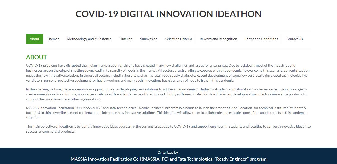 COVID-19 DIGITAL INNOVATION IDEATHON